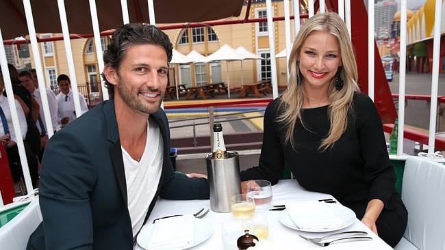 Tim Robards and Anna Heinrich at the Universal Pictures Endless Love dinner at Luna Park.