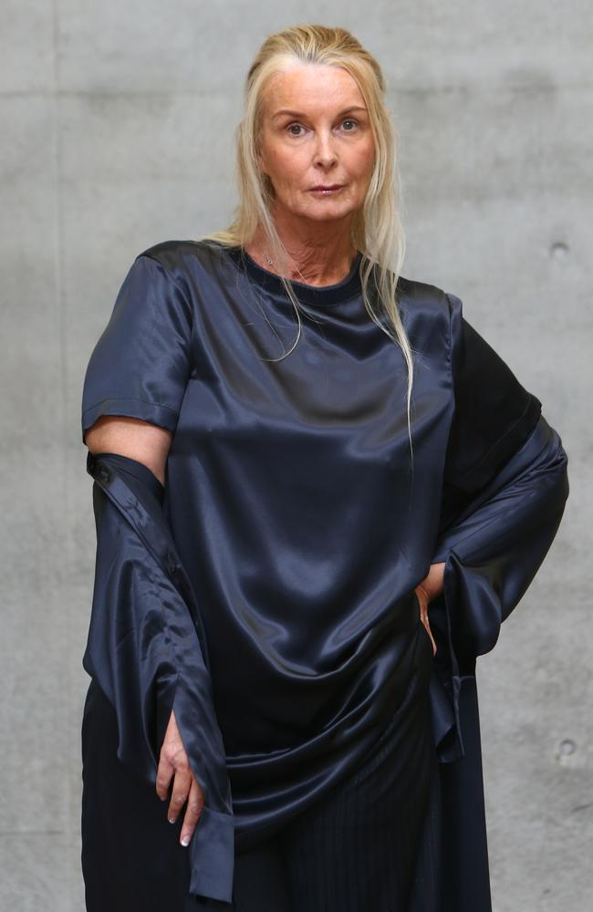 Yvonne Tozzi — the mum of Cheyenne Tozzi — backstage ahead of the Thomas Puttick show at Mercedes-Benz Fashion Week Resort. Picture: Lisa Maree Williams/Getty Images