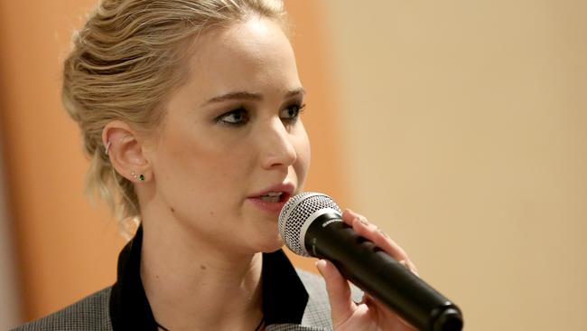 Jennifer Lawrence has opened up about her high school struggles. Picture: Monica Schipper/Getty Images