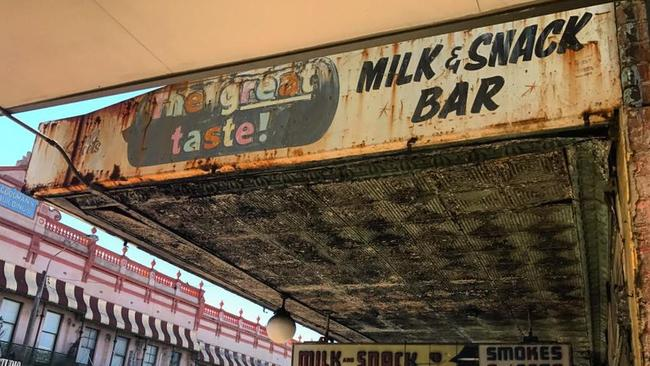 The legendary Olympia Milkbar on Parramatta Rd at Annandale which is being closed down by the local council after it declared the building to be derelict. Pic: Olympia Milkbar Facebook page