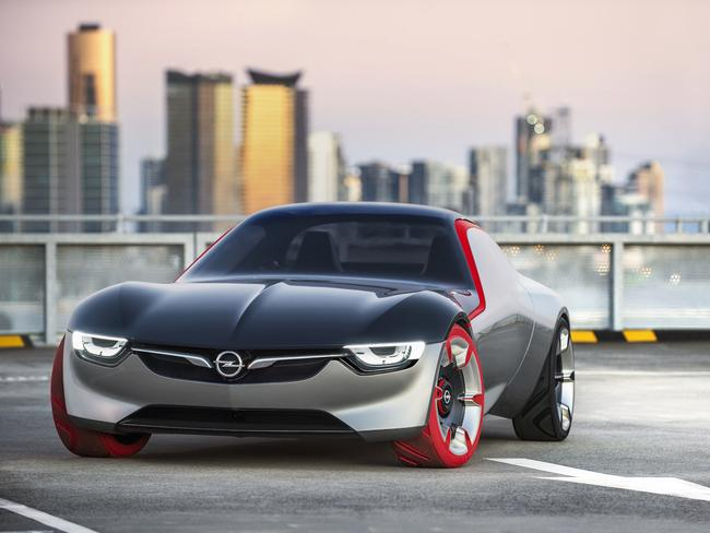 The Opel GT concept car handmade by Holden in Port Melbourne is set to rival the Toyota 86 coupe. Picture: Supplied.