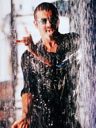 George Michael's wet look for Fastlove.