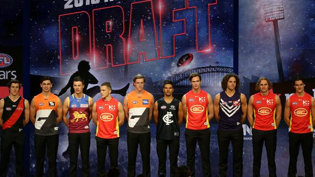 The 2016 national draft class. Picture: Jonathan Ng