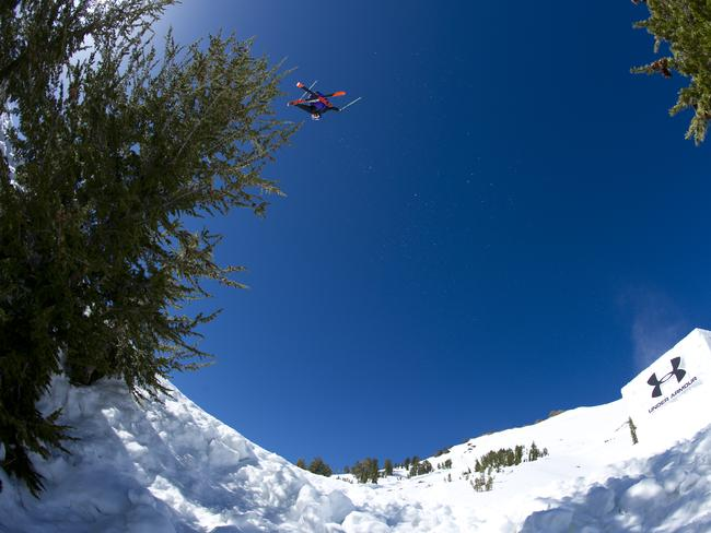 Russ Henshaw launches up into the sky. Picture: Red Bull.