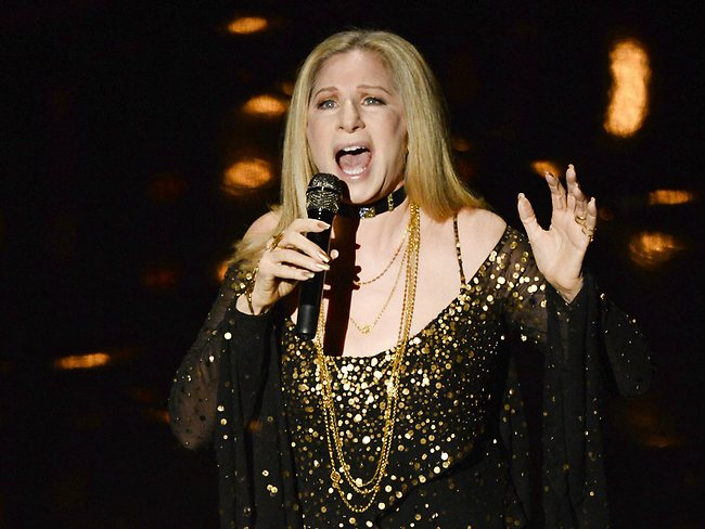 Barbra Streisand performs at the Oscars. Picture: Getty Images