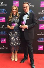 Jonathan 'JMo' Moran and Alison Stephenson arrive on the red carpet for the 31st Annual ARIA Awards 2017 at The Star on November 28, 2017 in Sydney, Australia. Picture: Supplied