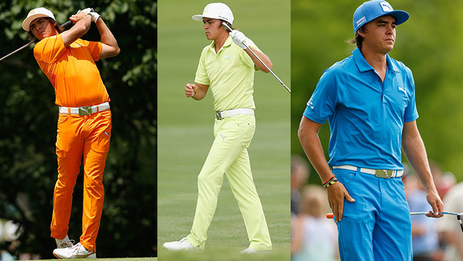 Rickie Fowler is affectionately known as the Teletubbie and with his all-in-one outfits you can see why.