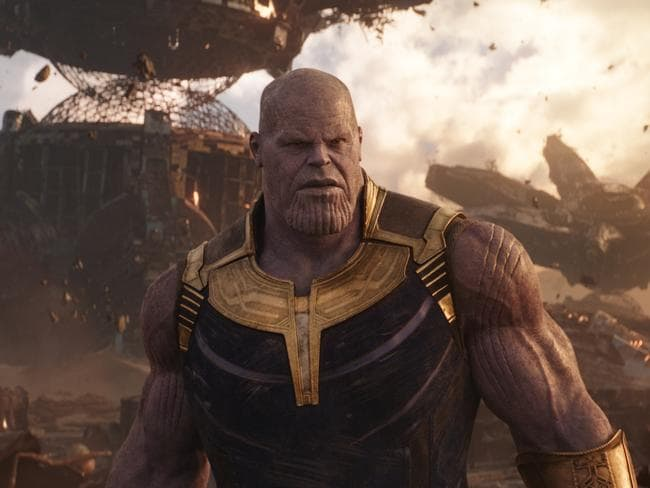 The big bad … Thanos, played by Josh Brolin, will challenge the Avengers like never before. Picture: Film Frame/Marvel Studios