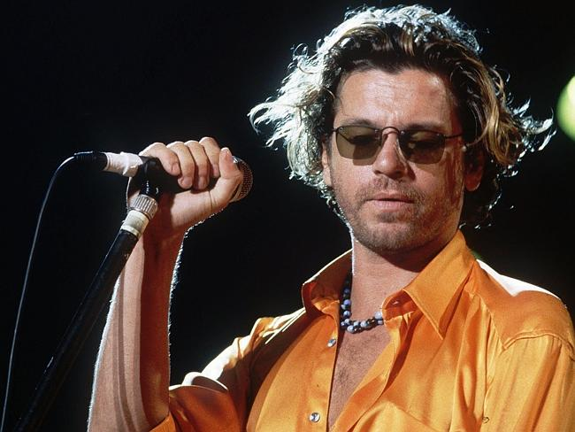 1994 file picture of Michael Hutchence, from the band INXS during a concert at the Paleo Festival in Nyon, Switzerland. Hutch...