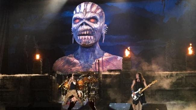 iron maiden metal meets mayan maelstrom at adelaide concert adelaidenow. Black Bedroom Furniture Sets. Home Design Ideas