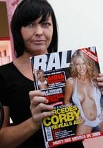 Australian convcited drug trafficer Schapelle Corby holding a copy of Ralph magazine with her sister Mercedes Corby on the cover during a Christmas party in Kerobokan Jail in Bali, Indonesia.