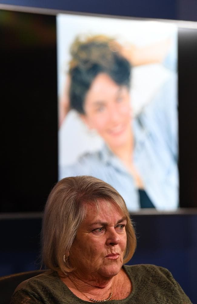 Cheryl Gatt addresses the media at a press conference last week. Picture: James Ross/AAP
