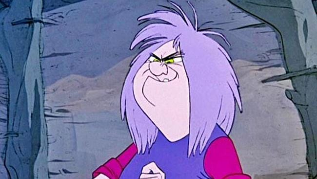 "Madam Mim looking good in ""Sword in the Stone""."