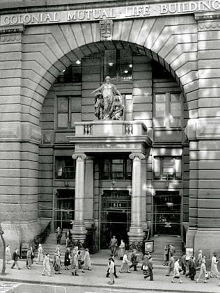 A look at the arch at the Equitable Life Assurance building. Picture: Herald Sun Image Li