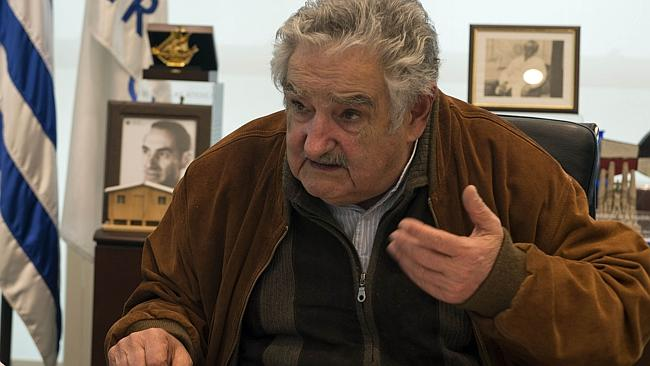 Mujica was a bad, bad boy in his youth. He was shot by police SIX times in his rebel heyday. Picture: AFP