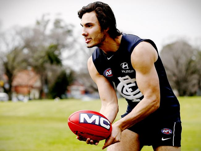 Menzel reveals Chris Judd's decision promoted his re-signing. Picture: Wayne Ludbey.