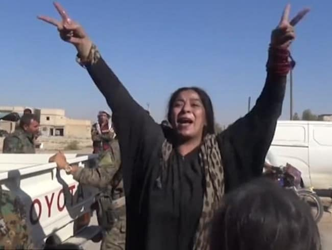 News.com.au understands the woman was rescued by Kurdish forces who were held as human shields by Islamic State.