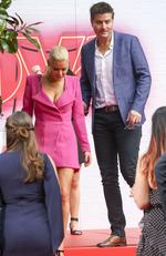 Sophie Monk and Stu Laundy arrive at the 2017 Aria Awards. Picture: Media Mode