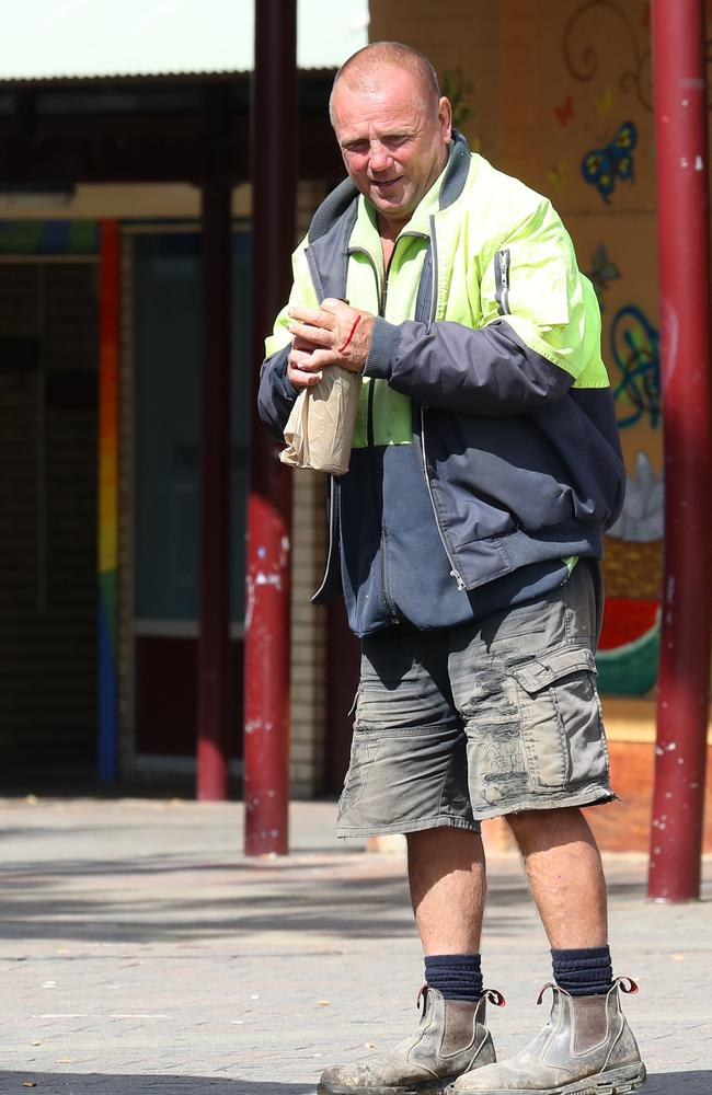 Early morning in the square near Miller's Family and Community Services department office. Picture: Matrix for news.com.au