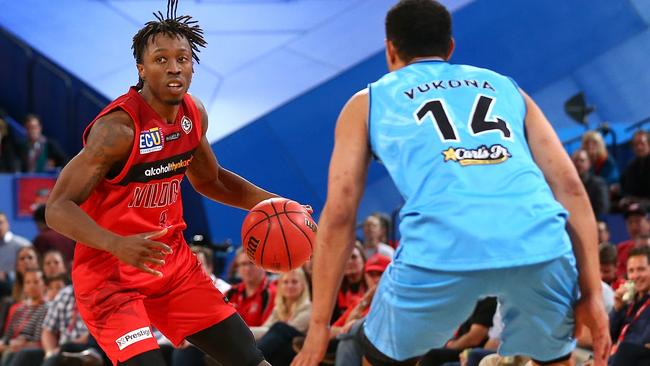 Jettisoned ... Jaron Johnson of the Wildcats is the first NBL import cut this year. Picture: Paul Kane (Getty Images)