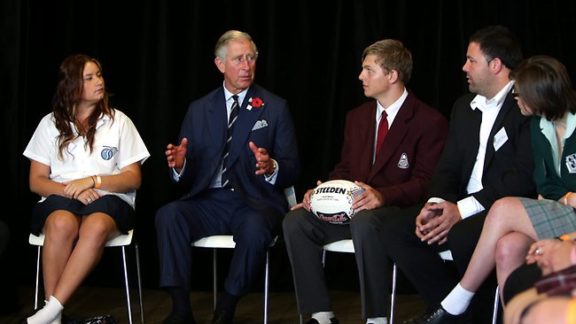 George Rose (second from right) was in awe of Prince Charles. Picture: Sam Ruttyn