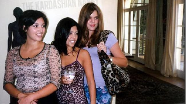 Kim, Kourtney and Khloe during their teenage years. Picture: Courtesy of Pam Behar