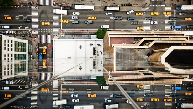 His works do capture the buzz and energy that is New York. Picture: Navid Baraty