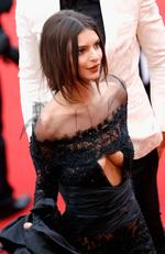 "Emily Ratajkowski attends the ""Loveless (Nelyubov)"" screening during the 70th annual Cannes Film Festival at Palais des Festivals on May 18, 2017 in Cannes, France. Picture: Getty"