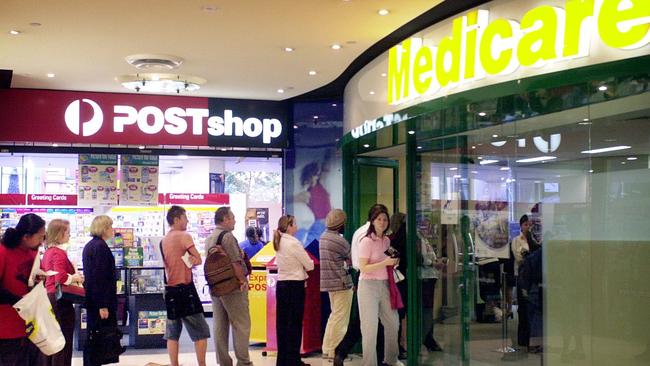 Moving on ... Medicare could be processed by Australia Post. Picture: Mark Calleja