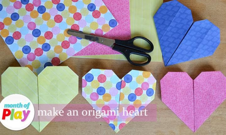 How To Make An Origami Heart From A4