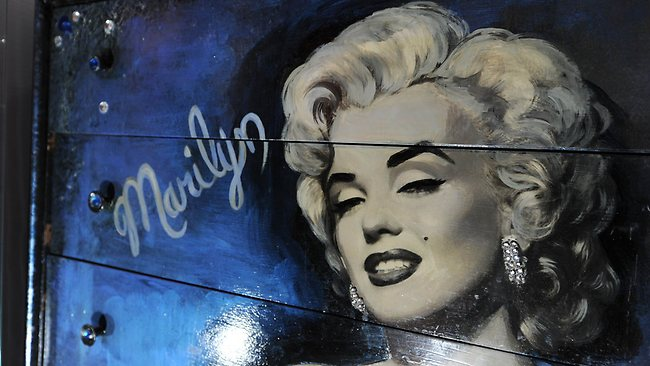 """A hand-painted Marilyn Monroe dresser once own by the late model and television personality Anna Nicole Smith is on display at the newly remodeled Marilyn Monroe """"Vault"""" exhibition at the Ripley's Believe It Or Not! Museum in Hollywood. Photo: AFP"""
