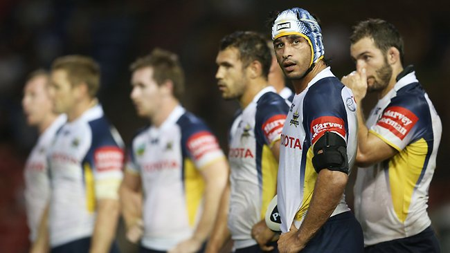 A dejected Johnathan Thurston at Hunter Stadium. Picture: Phil Hillyard