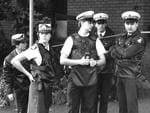 Police at Walsh St, South Yarra where two policemen were shot dead, in 1988. Picture: HWT library
