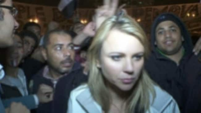 Then chief foreign correspondent for CBS Lara Logan reports from Tahrir Square before the mob turns on her.