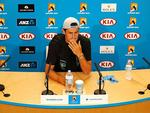 Bernard Tomic faces a different kind of heat at an afternoon press conference. Picture: Mark Stewart