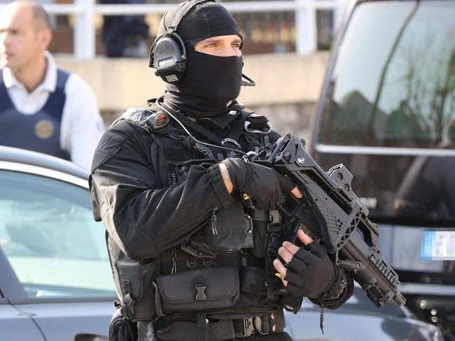 The RAID (Search, Assistance, Intervention, Deterrence) French police raced to the scene. Picture: AFP/ Valery Hache