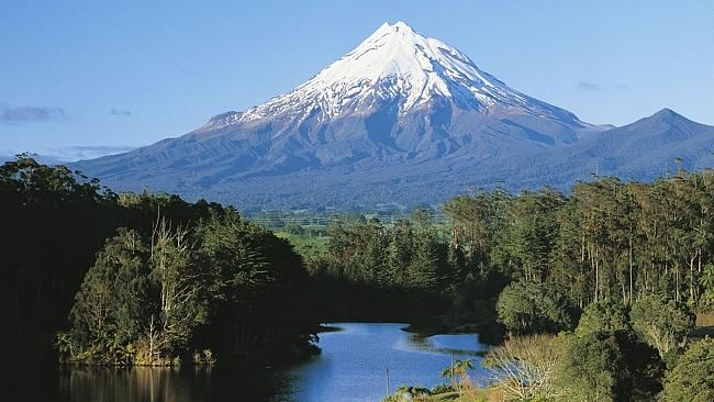 The view of Mount Taranaki from Lake Mangamahoe, New Plymouth. Picture: Supplied