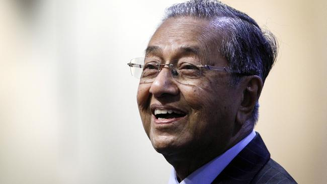 Doubts ... former Malaysian PM Mahathir Mohamad is among those to suggest a cover-up in the MH370 mystery. Picture: AP/Joshua Paul.