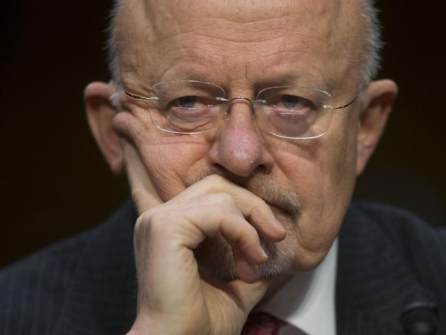 Under pressure ... US intelligence director James Clapper