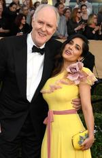 John Lithgow and Salma Hayek attend the 23rd Annual Screen Actors Guild Awards at The Shrine Expo Hall on January 29, 2017 in Los Angeles, California. Picture: Getty