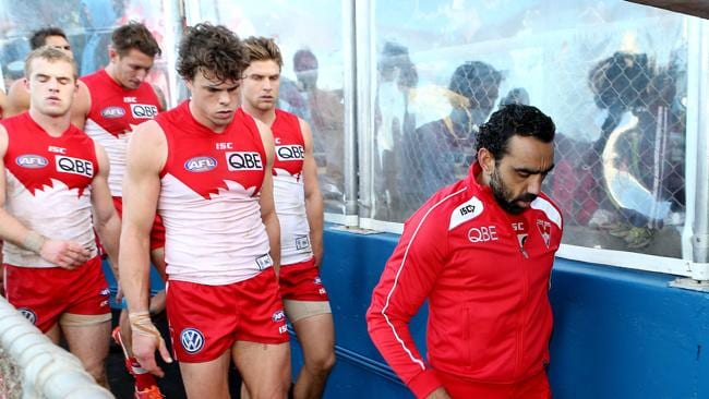 Adam Goodes will miss Friday?s clash against Carlton.