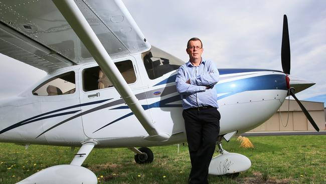 Glen Buckley of Melbourne Flight Training school says he paid $700,000 to comply with new CASA regulations. Picture: Aaron Francis