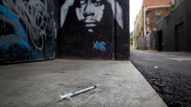 A laneway off Little Grey St. Mr Foley said the level of anti-social behaviour was unacceptable. Picture: Penny Stephens