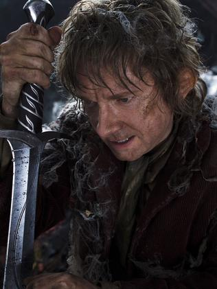 Martin Freeman as Hobbit Bilbo Baggins in a scene from the film, The Hobbit: The Desolation of Smaug. Picture: Warner Bros Pictures