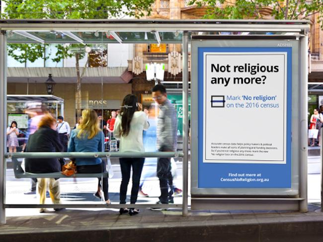 The Atheist Foundation of Australia is ramping up its crowd-funded Mark 'No Religion' campaign. Picture: Michael Findlay