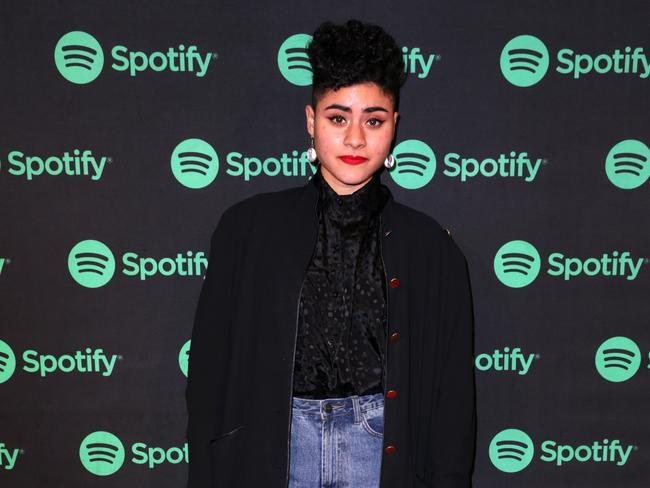 Jessica Cerro aka Montaigne, was one of dozens of artists who recently celebrated Spotify's 5th birthday in Australia. Picture: Christian Gilles