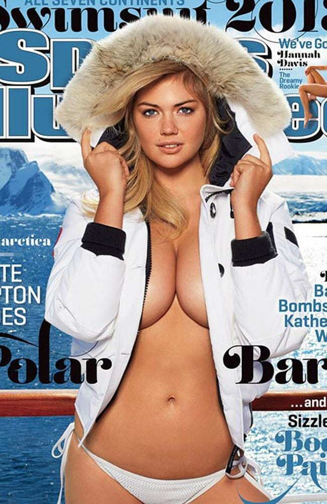 """Kate Upton on the cover of """"Sports Illustrated Swimsuit: 50 Years of Beautiful"""" in 2013."""