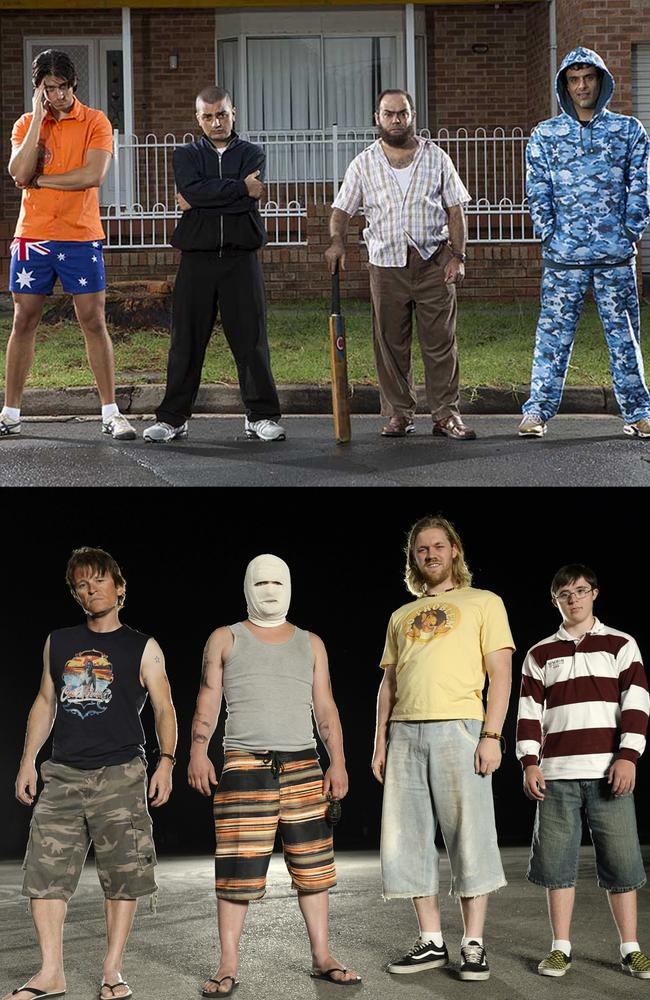 Clash ... The two opposing gangs of hotheads who clash in Cronulla Riots-inspired black comedy Down Under. (Studiocanal)