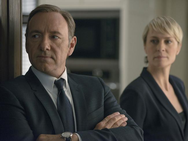 What does it take to be President around here? Kevin Spacey and Robin Wright in  <i>House of Cards</i>.