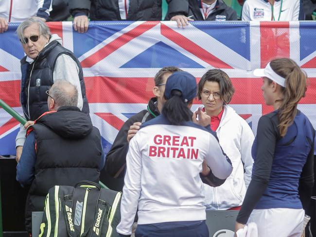 Nastase was shown off the court after abusing British female tennis players.